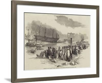 Launch of the Glasgow Screw Steam-Ship, at the Mouth of the Kelvin, on Saturday Last--Framed Giclee Print