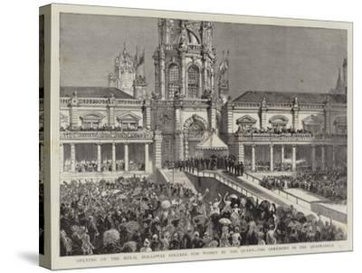 Opening of the Royal Holloway College for Women by the Queen, the Ceremony in the Quadrangle--Stretched Canvas Print