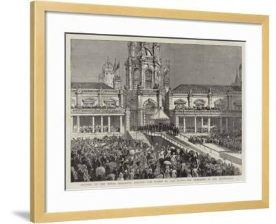 Opening of the Royal Holloway College for Women by the Queen, the Ceremony in the Quadrangle--Framed Giclee Print