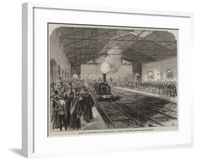Opening of the Falmouth and Truro Railway, Arrival of the First Train at Falmouth Station--Framed Giclee Print