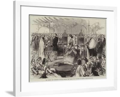 The Prince and Princess of Wales Opening the School for Children of Seamen, Wellclose-Square--Framed Giclee Print