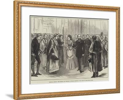 Hospital Sunday, the Prince and Princess of Wales Received at St Paul's by the Lord Mayor--Framed Giclee Print