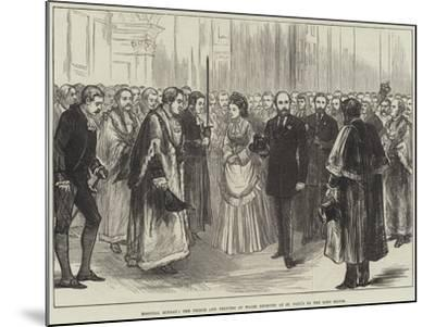Hospital Sunday, the Prince and Princess of Wales Received at St Paul's by the Lord Mayor--Mounted Giclee Print
