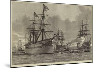 Return of the Prince of Wales, the Serapis Coming Alongside the Jetty at Portsmouth--Mounted Giclee Print