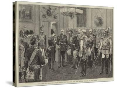 The Shah of Persia at Berlin, Arrival of the Shah and the Emperor William at the Palace--Stretched Canvas Print