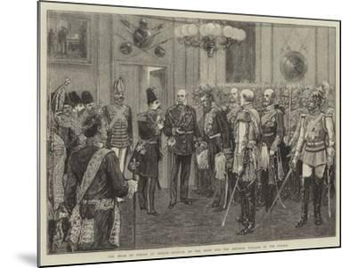 The Shah of Persia at Berlin, Arrival of the Shah and the Emperor William at the Palace--Mounted Giclee Print