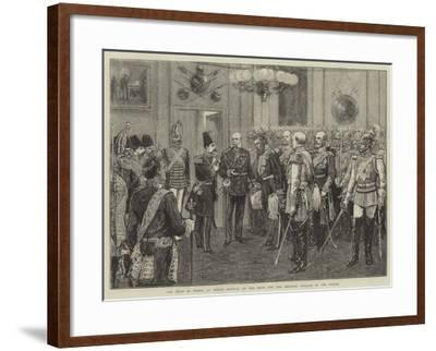 The Shah of Persia at Berlin, Arrival of the Shah and the Emperor William at the Palace--Framed Giclee Print