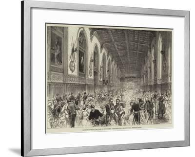 Marriage of Hrh the Duke of Connaught, Dejeuner in St George's Hall, Windsor Castle--Framed Giclee Print