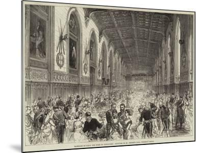 Marriage of Hrh the Duke of Connaught, Dejeuner in St George's Hall, Windsor Castle--Mounted Giclee Print