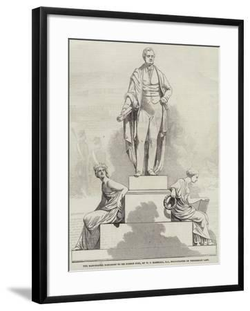 The Manchester Monument to Sir Robert Peel, by W C Marshall, Ra, Inaugurated on Wednesday Last--Framed Giclee Print