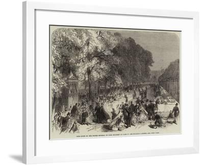 Fete Given by the Prince Imperial to Poor Children of Paris in the Tuileries Gardens--Framed Giclee Print