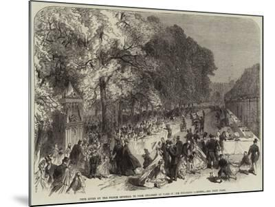Fete Given by the Prince Imperial to Poor Children of Paris in the Tuileries Gardens--Mounted Giclee Print