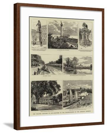 The Volcanic Eruption in Java, Sketches in the Neighbourhood of the Affected Districts--Framed Giclee Print
