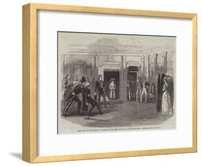 Scene from the New Comedy of Finesse; Or, Spy and Counterspy, at the Theatre Royal Haymarket--Framed Giclee Print