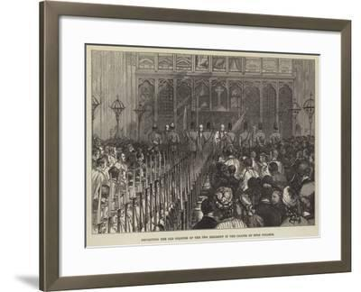 Depositing the Old Colours of the 14th Regiment in the Chapel of Eton College--Framed Giclee Print