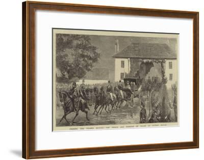 Freeing the Thames Bridges, the Prince and Princess of Wales at Putney Bridge--Framed Giclee Print