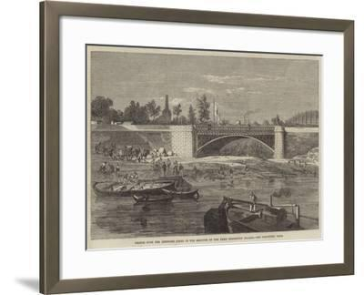 Bridge over the Intended Canal in the Grounds of the Paris Exhibition Palace--Framed Giclee Print