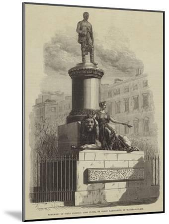 Monument of Field Marshal Lord Clyde, by Baron Marochetti, in Waterloo-Place--Mounted Giclee Print