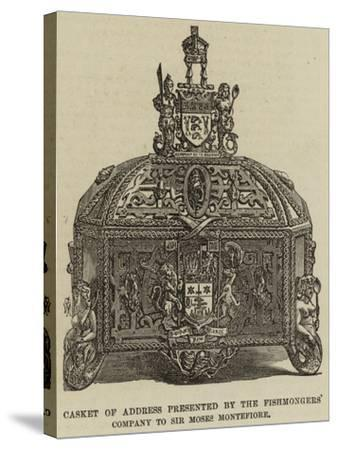 Casket of Address Presented by the Fishmongers' Company to Sir Moses Montefiore--Stretched Canvas Print