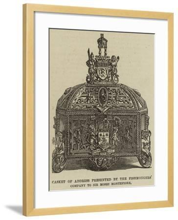 Casket of Address Presented by the Fishmongers' Company to Sir Moses Montefiore--Framed Giclee Print