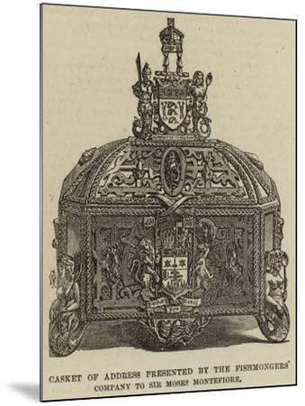 Casket of Address Presented by the Fishmongers' Company to Sir Moses Montefiore--Mounted Giclee Print