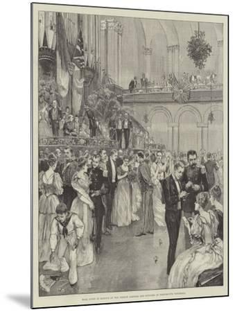 Ball Given in Honour of the French Admiral and Officers at Portsmouth Townhall--Mounted Giclee Print