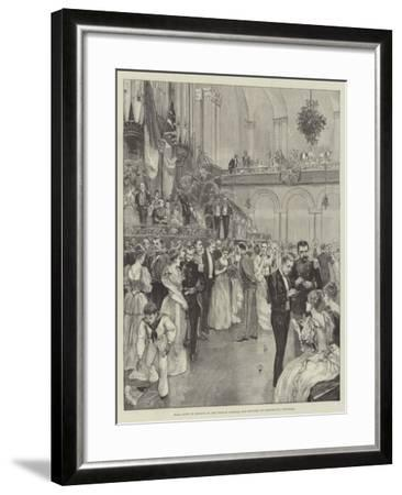 Ball Given in Honour of the French Admiral and Officers at Portsmouth Townhall--Framed Giclee Print