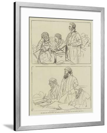 The Irish Land League Trials, the Leading Counsel for the Crown and the Defence--Framed Giclee Print