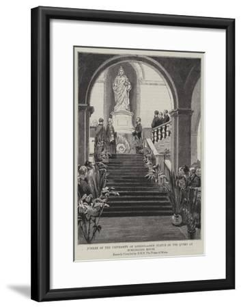 Jubilee of the University of London, New Statue of the Queen at Burlington House--Framed Giclee Print