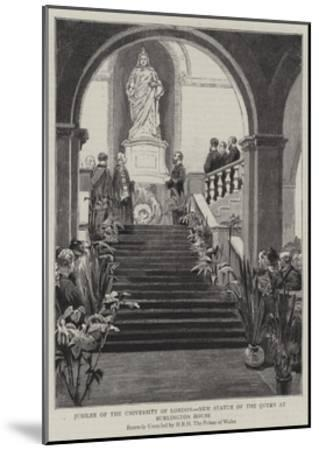 Jubilee of the University of London, New Statue of the Queen at Burlington House--Mounted Giclee Print
