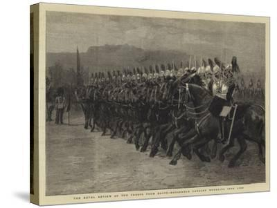 The Royal Review of the Troops from Egypt, Household Cavalry Wheeling into Line--Stretched Canvas Print