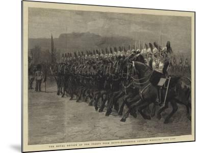 The Royal Review of the Troops from Egypt, Household Cavalry Wheeling into Line--Mounted Giclee Print