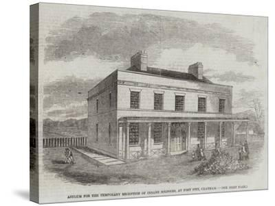Asylum for the Temporary Reception of Insane Soldiers, at Fort Pitt, Chatham--Stretched Canvas Print
