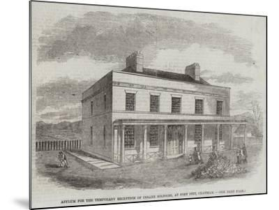 Asylum for the Temporary Reception of Insane Soldiers, at Fort Pitt, Chatham--Mounted Giclee Print