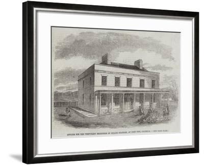 Asylum for the Temporary Reception of Insane Soldiers, at Fort Pitt, Chatham--Framed Giclee Print