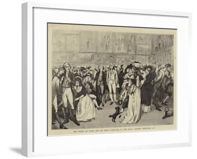 The Prince of Wales and Sir Joshua Reynolds at the Royal Academy Exhibition, 1787--Framed Giclee Print