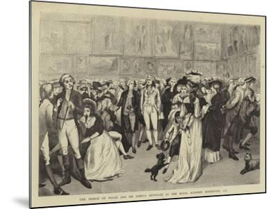 The Prince of Wales and Sir Joshua Reynolds at the Royal Academy Exhibition, 1787--Mounted Giclee Print