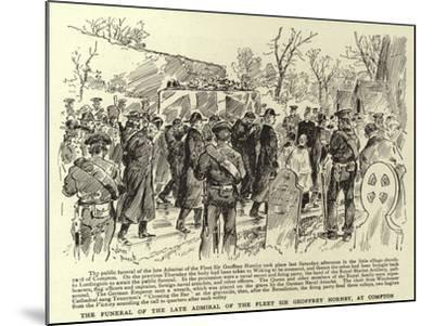 The Funeral of the Late Admiral of the Fleet Sir Geoffrey Hornby, at Compton--Mounted Giclee Print