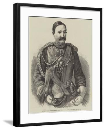 The Late Colonel Frederick Burnaby, Royal Horse Guards, Killed in the Soudan--Framed Giclee Print