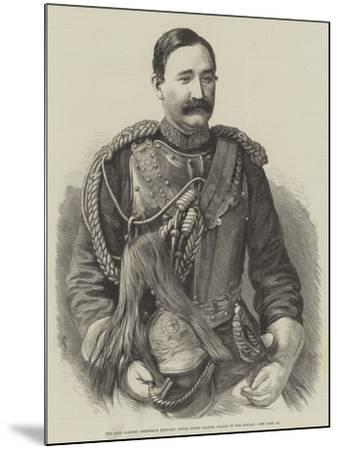 The Late Colonel Frederick Burnaby, Royal Horse Guards, Killed in the Soudan--Mounted Giclee Print