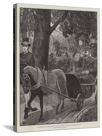 The Emperor of Germany Taking His Daily Drive in the Park at Charlottenburg--Stretched Canvas Print