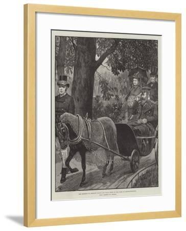 The Emperor of Germany Taking His Daily Drive in the Park at Charlottenburg--Framed Giclee Print