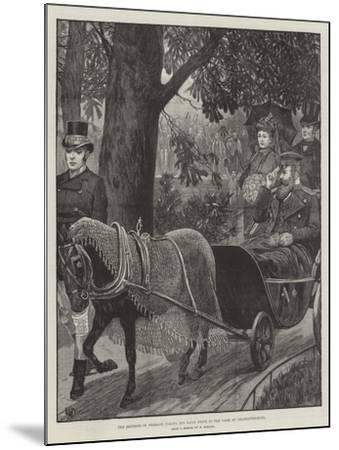 The Emperor of Germany Taking His Daily Drive in the Park at Charlottenburg--Mounted Giclee Print
