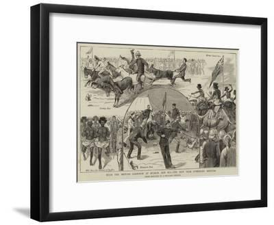 With the British Garrison at Suakim, Red Sea, the New Year Gymkhana Meeting--Framed Giclee Print
