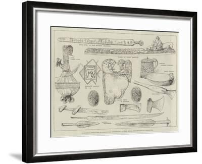 Specimens from the Scandinavian Exhibition, at the Royal Archaeological Institute--Framed Giclee Print