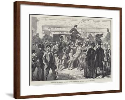 The State of Ireland, the Lord Mayor of Dublin on the Way to Richmond Prison--Framed Giclee Print