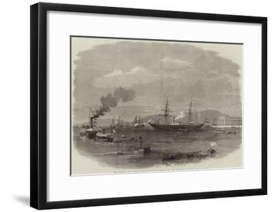 The French and Austrian Imperial Yachts Entering the Red Sea from the Suez Canal--Framed Giclee Print