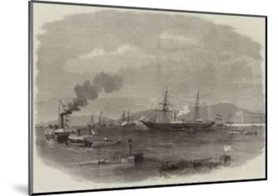 The French and Austrian Imperial Yachts Entering the Red Sea from the Suez Canal--Mounted Giclee Print