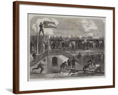 The War in America, Scene at Fort Moultrie During the Bombardment of Charleston--Framed Giclee Print