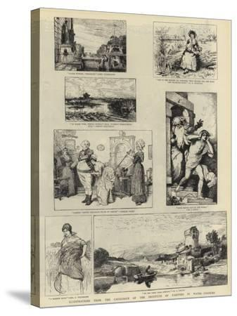 Illustrations from the Catalogue of the Institute of Painters in Water-Colours--Stretched Canvas Print